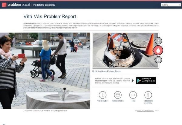 Aplikace, která pomůže s nahlášením problému ve městě