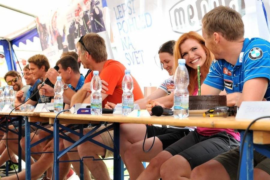 Návštěva biatlonové reprezentace v Meoptě