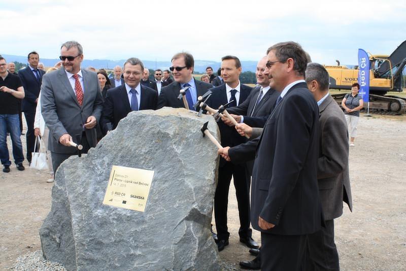 Stavba úseku Přerov-Lipník nad Bečvou oficiálně začala