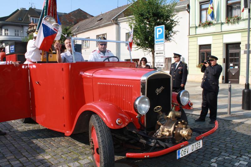 Propagační jízda hasičů měla první červencový den zastávku v Přerově