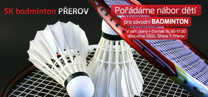 Hledají se nadějní badmintonisté, přijďte si zahrát!
