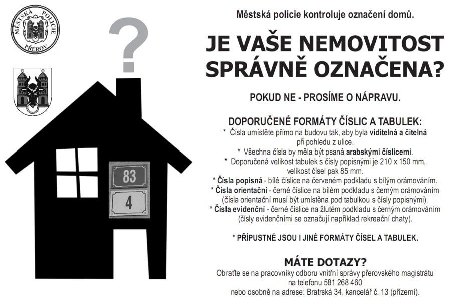 Máte správně označenou nemovitost?