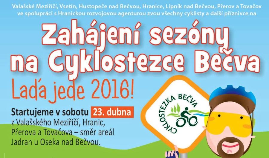 Zahájení sezóny na Cyklostezce Bečva už v sobotu 23. dubna 2016