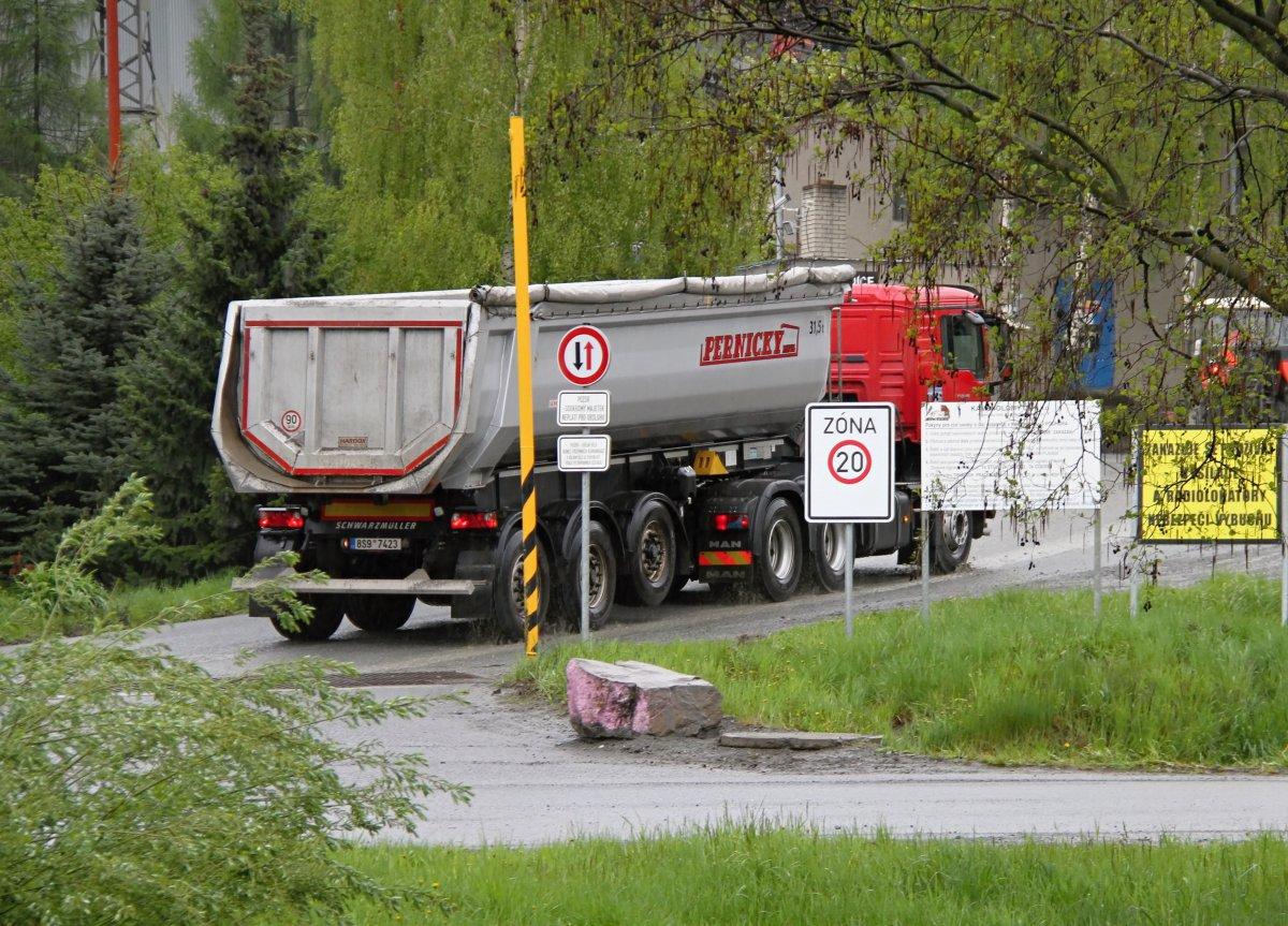 Obce v okolí Přerova trápí nadměrná kamionová doprava