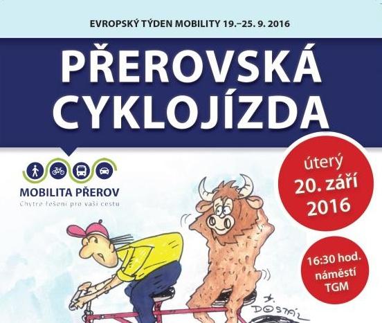 Přerovská cyklojízda 2016 bude v úterý 20. září