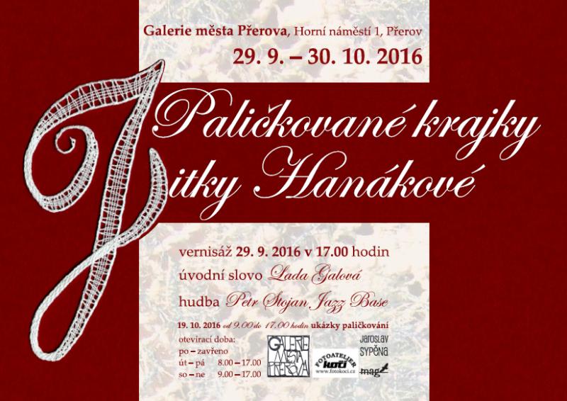 Jitka Hanáková představí v galerii paličkovanou krajku v moderním pojetí