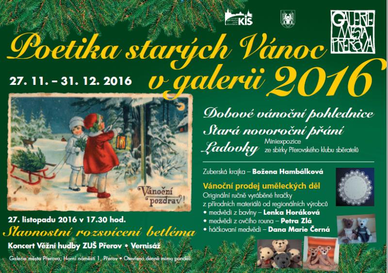 Poetika starých Vánoc naladí v Galerii města Přerova