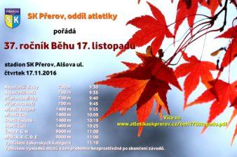Závod 17. listopadu atletika