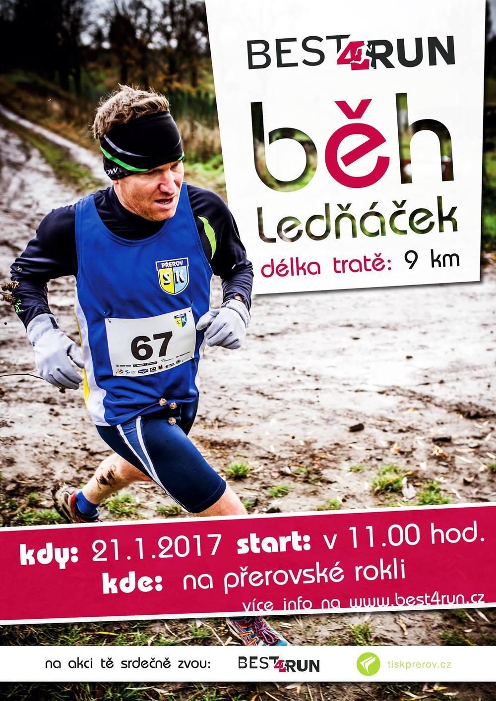 Závod Ledňáček s Best4Run bude 21. ledna na rokli