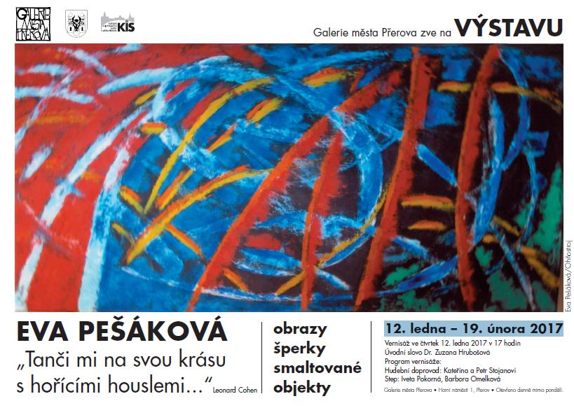 První letošní výstava v Galerii města Přerova: enkaustiky Evy Pešákové
