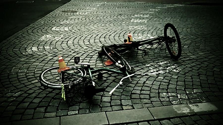 Čelní střet cyklistů