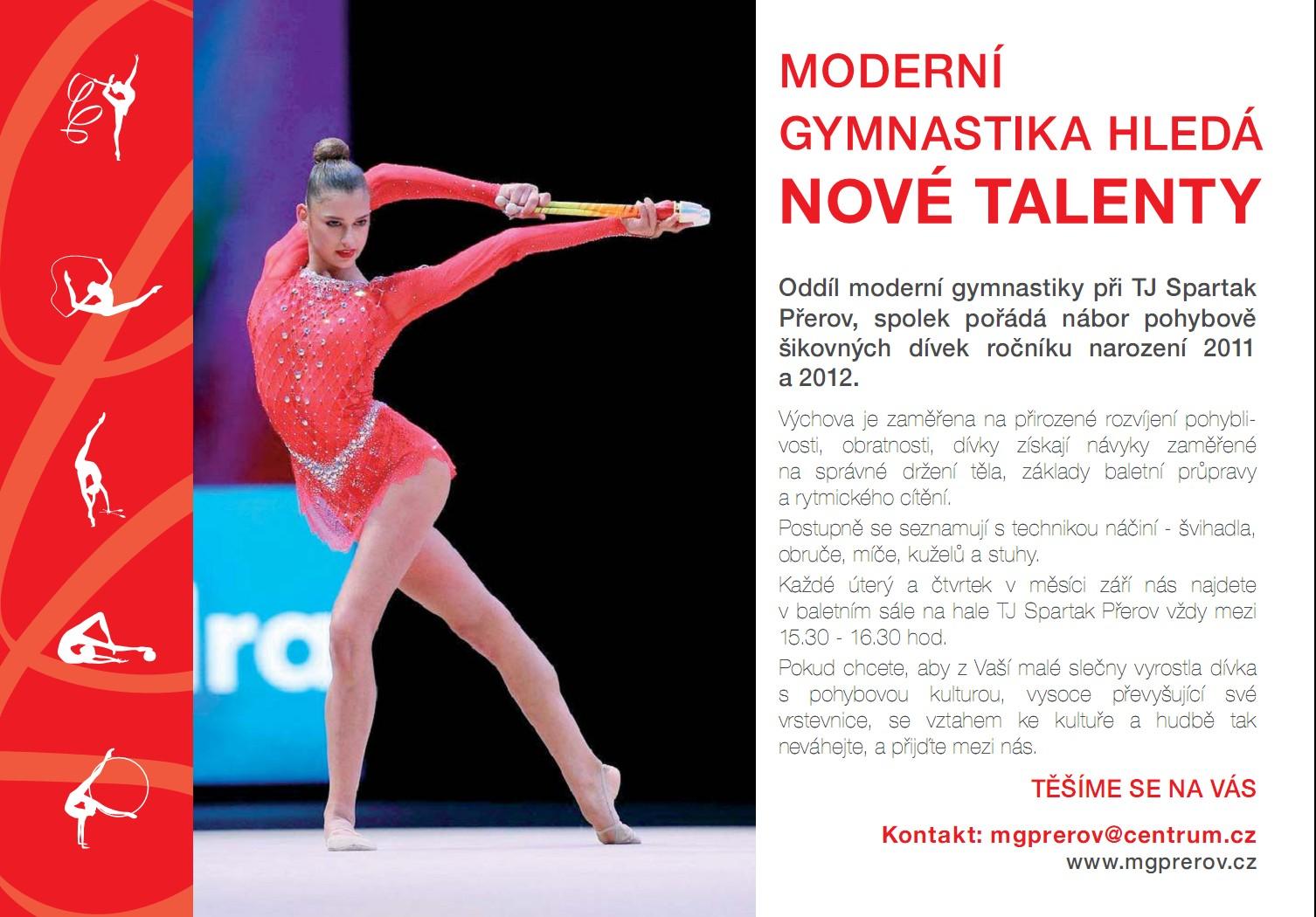 Moderní gymnastika hledá nové talenty