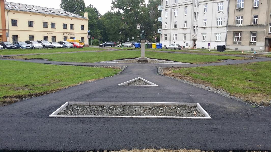 Probíhající revitalizace parku Františka Rasche