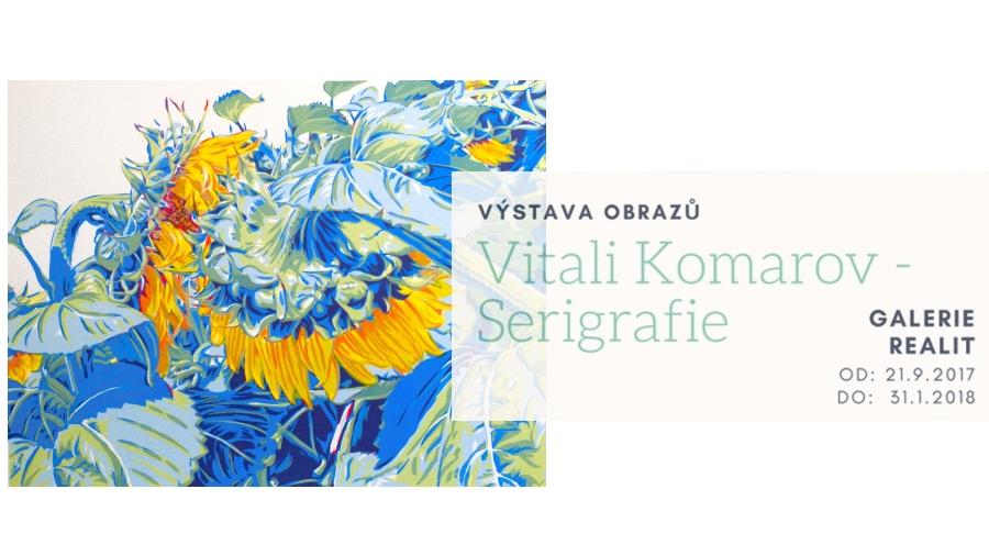Pozvánka na vernisáž – Vitali Komarov – Serigrafie
