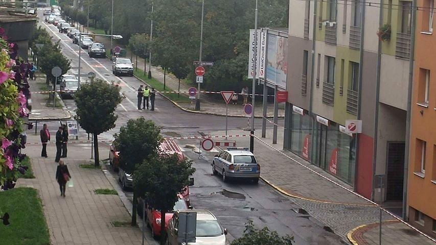 Planý poplach na Čechově ulici