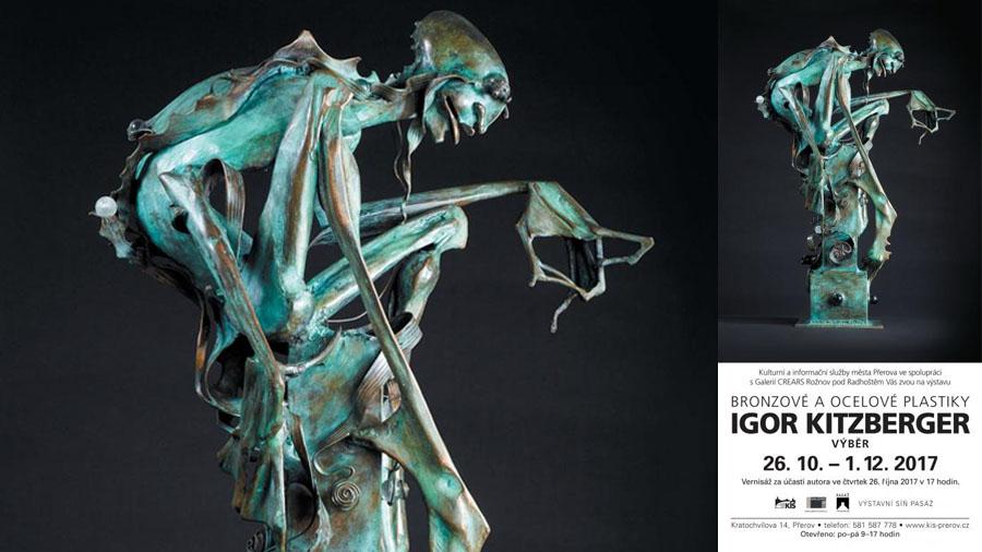 Sochy Igora Kitzbergera budou k vidění ve Výstavní síni Pasáž