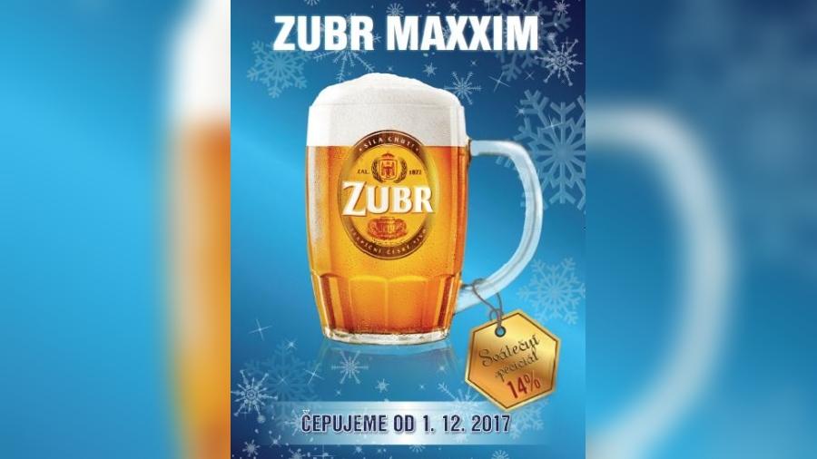 Nabídku piv i letos zpestří čtrnáctistupňový Zubr Maxxim