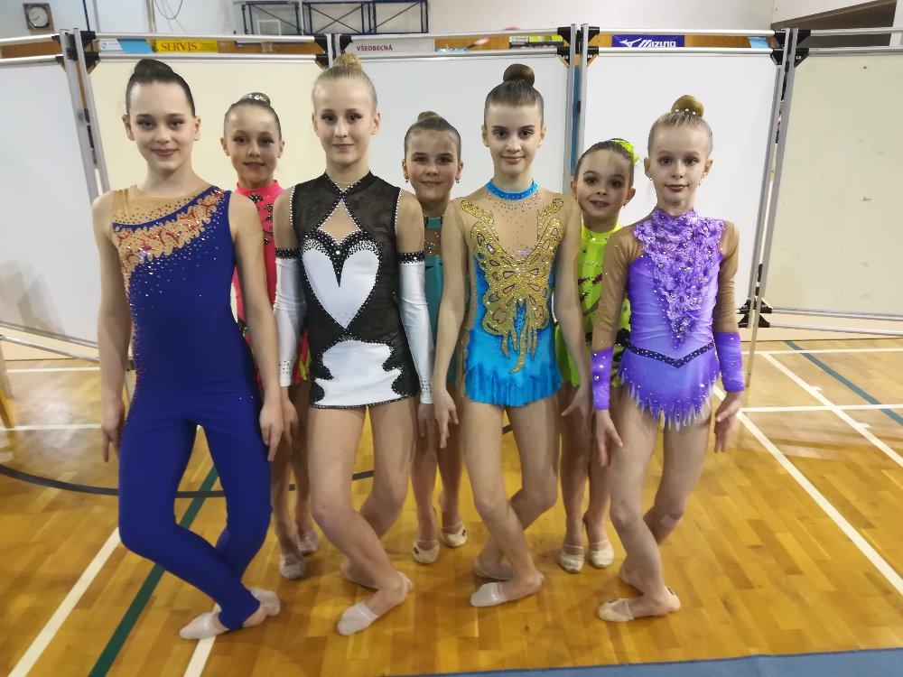 Sportovní hala patřila o víkendu moderním gymnastkám