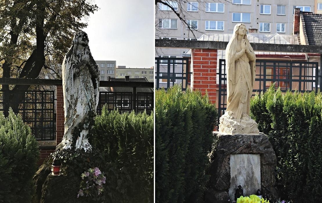 Rukama restaurátorů prošla socha Panny Marie i raněného bojovníka