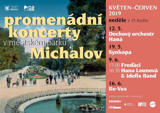 Už tuto neděli začínají promenádní koncerty v Michalově. Vystoupí dechový orchestr i legendární Synkopa