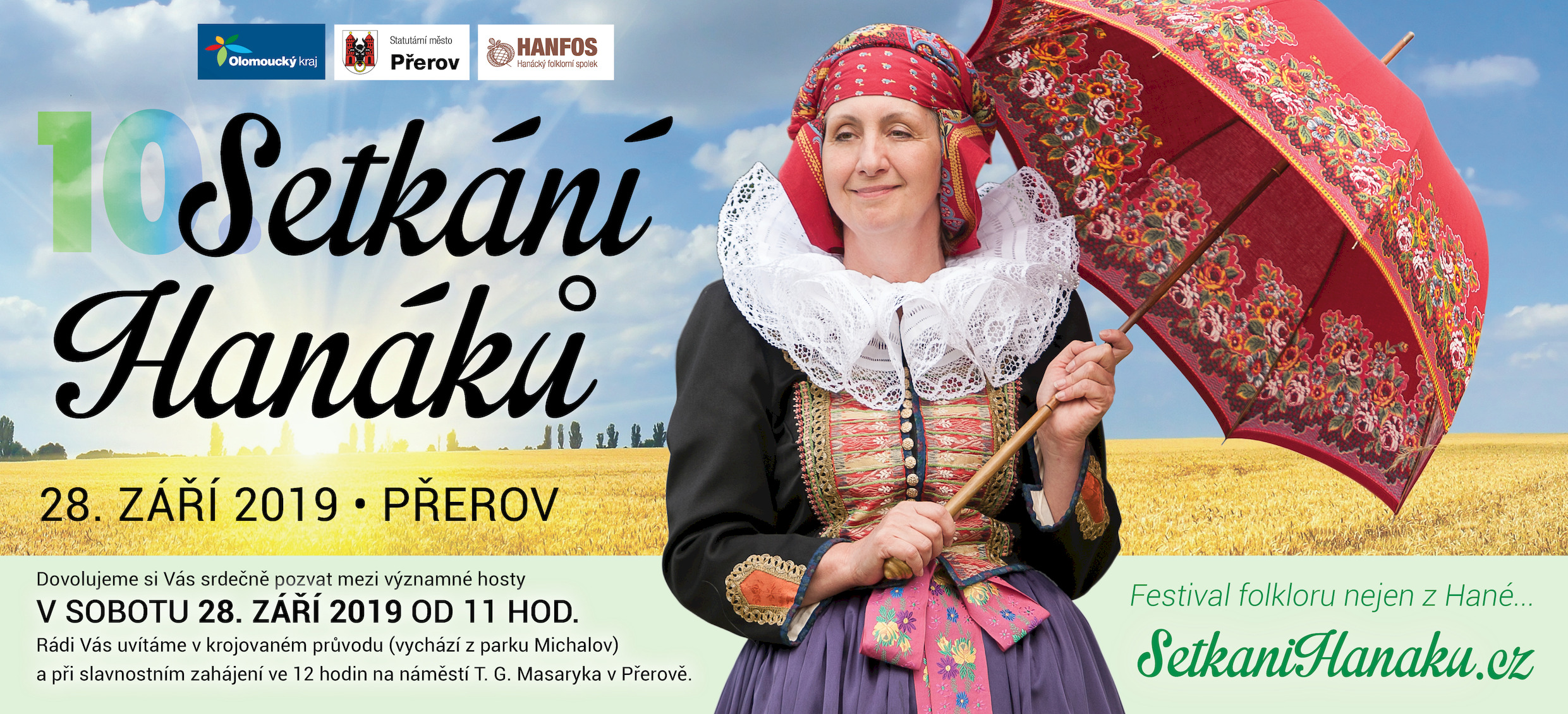 Putovní festival folkloru zavítá tentokrát do Přerova