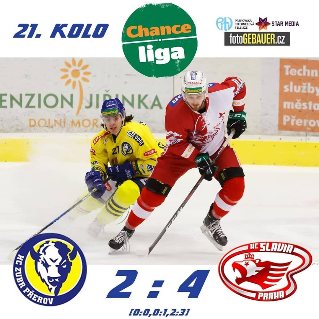 HC ZUBR Přerov – HC Slavia Praha 2:4