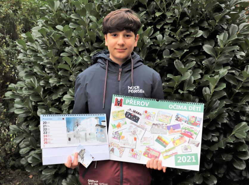 Přerovský kalendář na rok 2021 bude plný obrázků od školáků