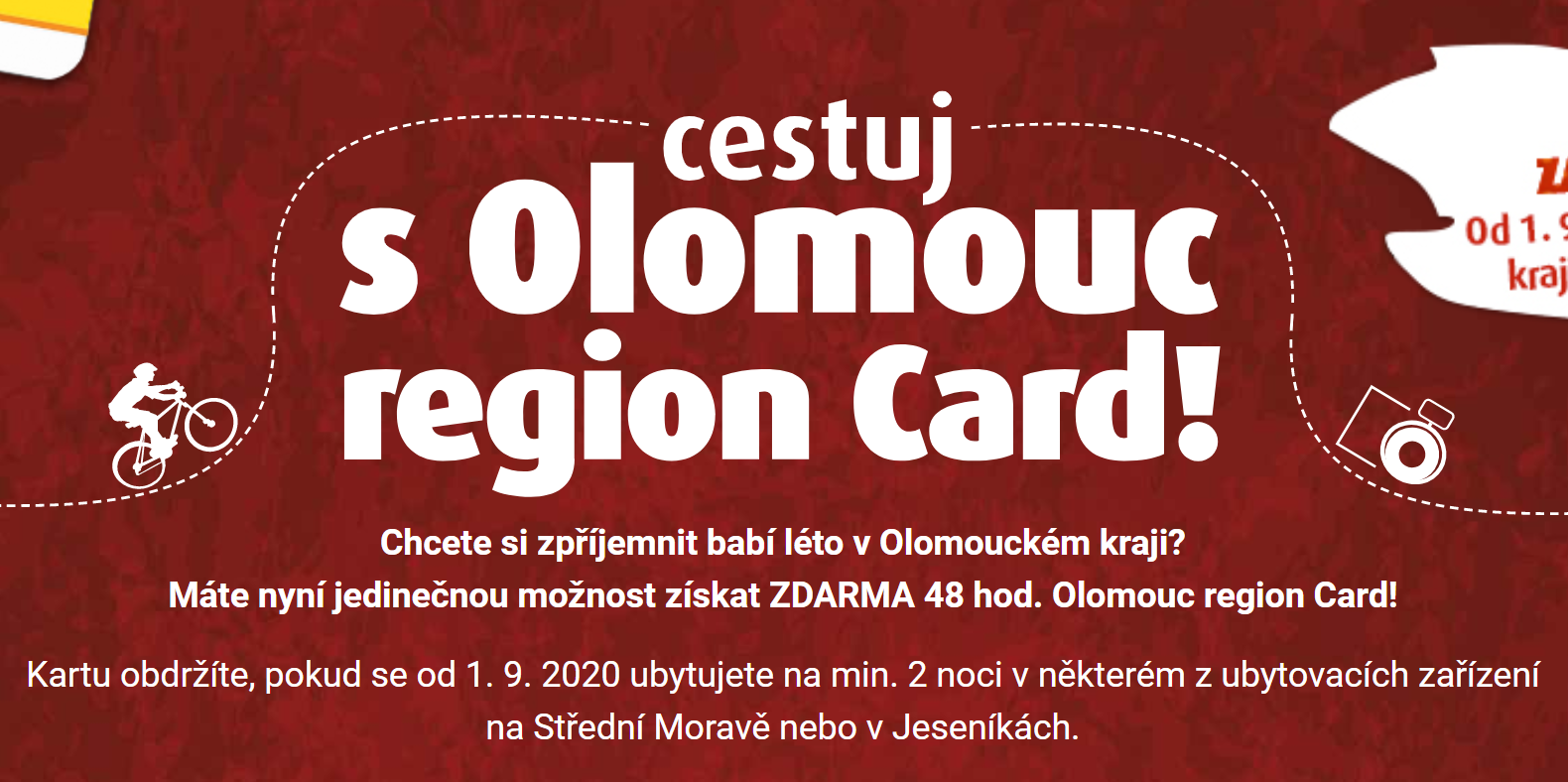 Olomoucký kraj podpoří cestovní ruch na střední Moravě